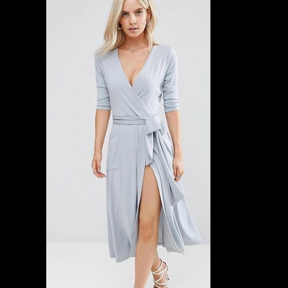 6c835d502af1 ASOS Dresses & Skirts - ASOS petite crepe wrap midi dress